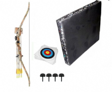 SILCO Archery Camo Family / Youth Recurve Bow Complete Starter Set 20Lbs